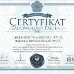 Zadowolony pacjent certyfikat